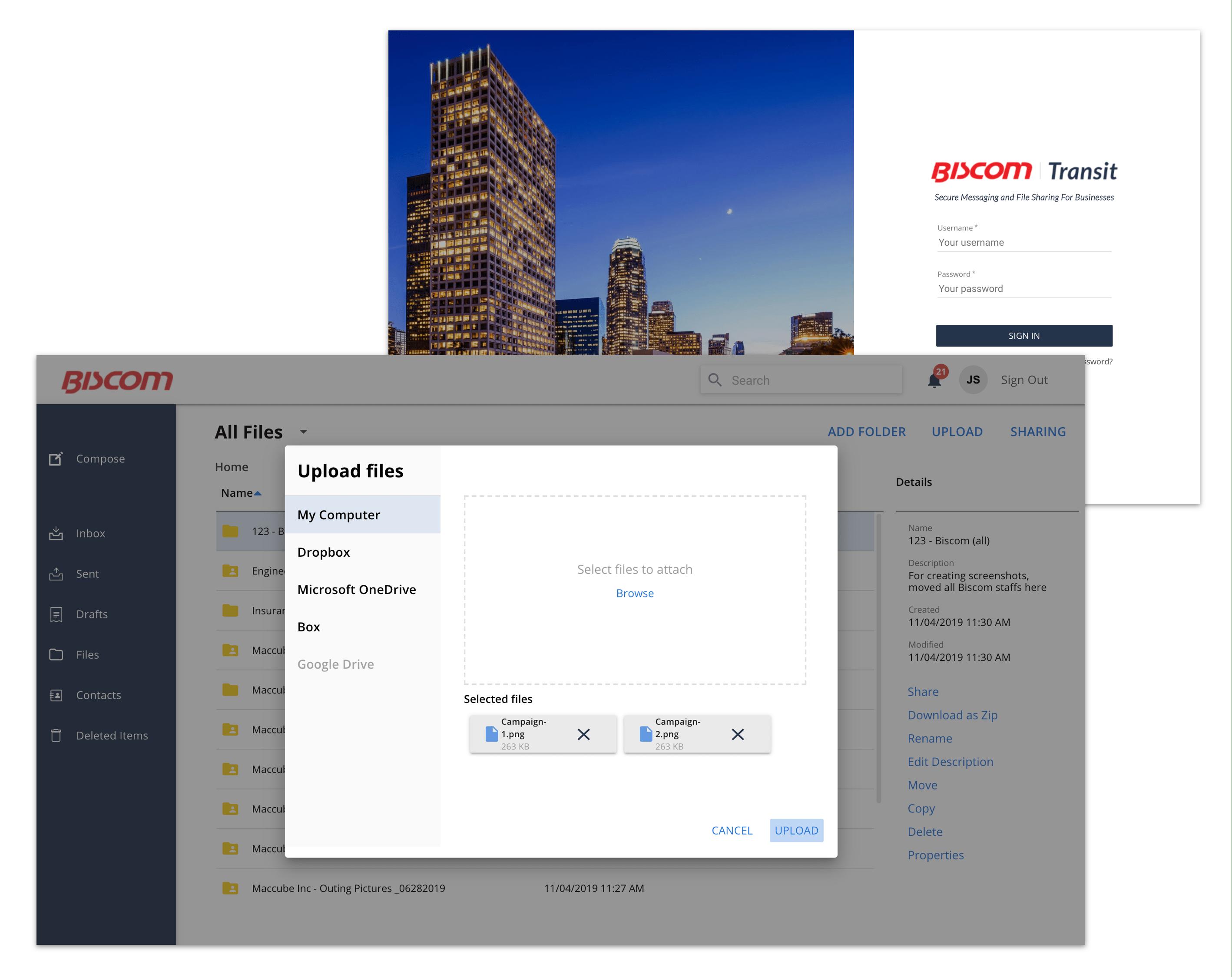 Biscom Cloud SFT(Transit)